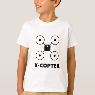 T-shirt Bourdon de Quadcopter Multicopter de X-Hélicoptère