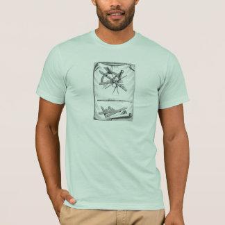 T-shirt Boussole, à angle droit et échelle