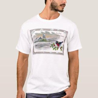 T-shirt Bouvreuil sur Noël de cru de houx