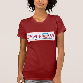 T-shirt Bravo, Obama