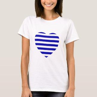 T-shirt breton de coeur de rayure