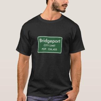 T-shirt Bridgeport, signe de limites de ville de CT