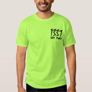 T-shirt Brodé 1337, obtenu Pwn ?