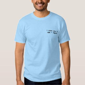 T-shirt Brodé 1 croix plus 3 clous = 4given