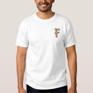 T-shirt Brodé Alphabet en bois F