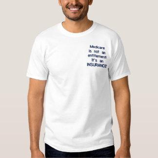 T-shirt Brodé Assurance-maladie pas un droit