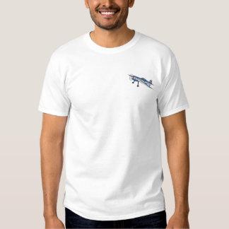 T-shirt Brodé Avion acrobatique aérien