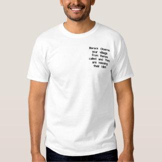 T-shirt Brodé Barack Obama