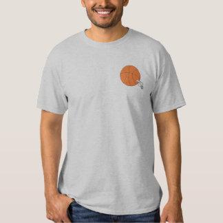 T-shirt Brodé Basket-ball et sifflement