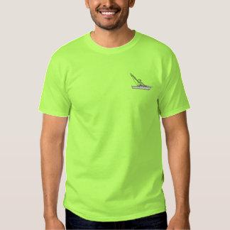 T-shirt Brodé Bateau de pêche en haute mer