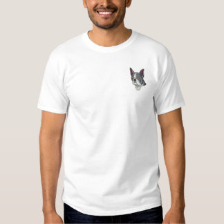 T-shirt Brodé Boston Terrier