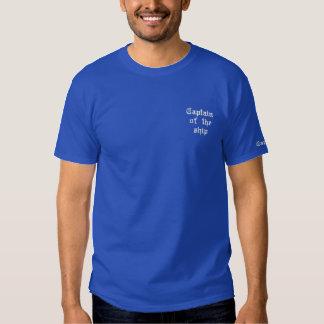T-shirt Brodé Capitaine du bateau