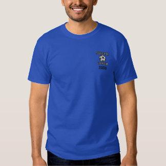 T-shirt Brodé Chemise brodée d'entraîneur du football