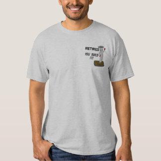 T-shirt Brodé Chemise brodée par charpentier retirée