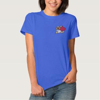 T-shirt Brodé Chemise brodée par infirmière d'ours de nounours