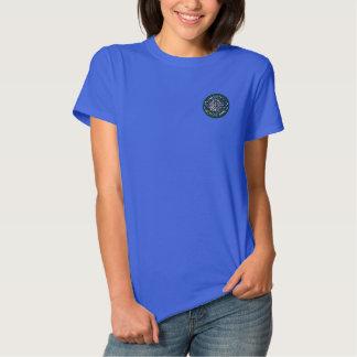 T-shirt Brodé Colombe en verre souillé