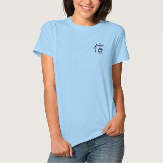 T-shirt Brodé croyez la chemise brodée par kanji