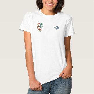 T-shirt Brodé Deux colibris