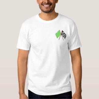 T-shirt Brodé Drapeau vert et Checkered