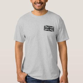 T-shirt Brodé ~ d'Union Jack noir et blanc