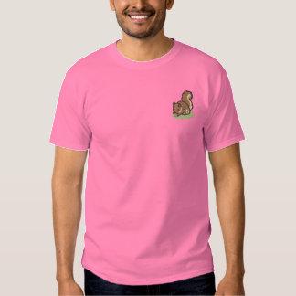 T-shirt Brodé Écureuil avec l'écrou