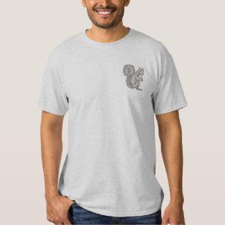 T-shirt Brodé Écureuil de gris oriental