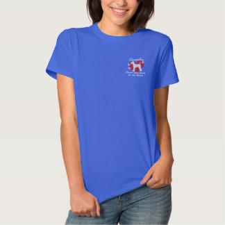 T-shirt Brodé Empreintes de pattes de congé d'Airedales