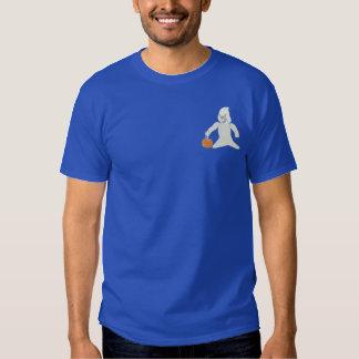 T-shirt Brodé Fantôme avec le citrouille