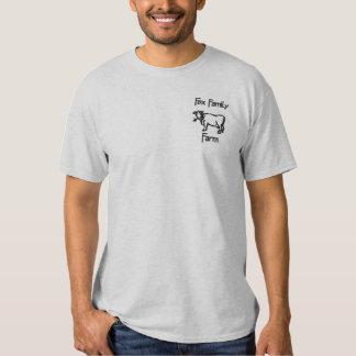 T-shirt Brodé Ferme de famille de Fox - customisée