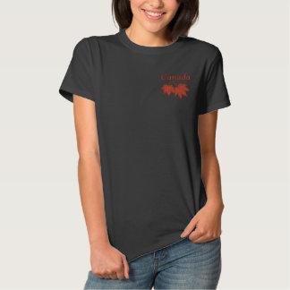 T-shirt Brodé Feuille canadien d'érable