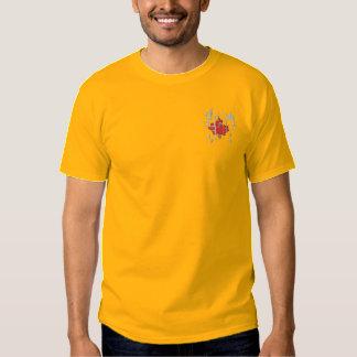 T-shirt Brodé Feuille d'érable abstraite
