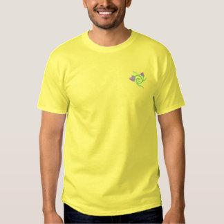 T-shirt Brodé Fleurs avec la vigne