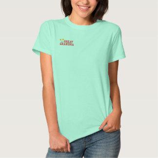 T-shirt Brodé Grande chemise brodée de grand-maman par fleur
