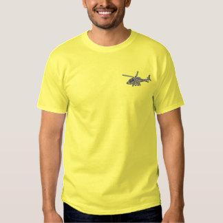 T-shirt Brodé Hélicoptère d'Apache
