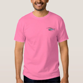 T-shirt Brodé Hélicoptère de police