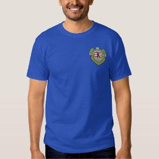 T-shirt Brodé Insigne de deuil de police