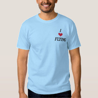 "T-SHIRT BRODÉ ""J'AIME FLYING"