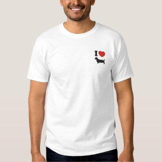 T-shirt Brodé J'entends des teckels
