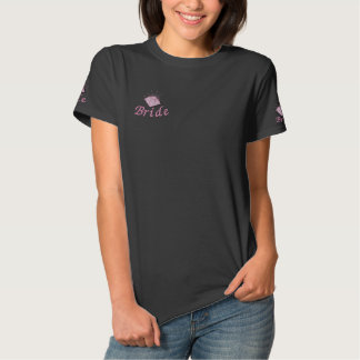 T-shirt Brodé Jeune mariée rose de diamant