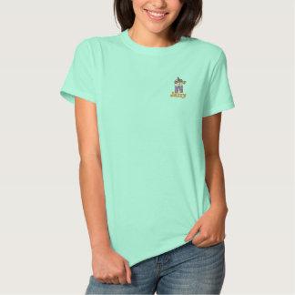 T-shirt Brodé Joueur brodé de jazz pour le mardi gras