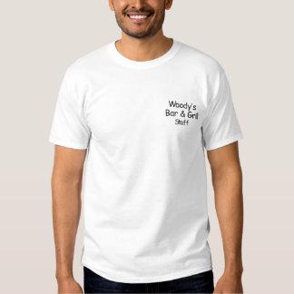 T-shirt Brodé La barre de Woody et le gril            ,