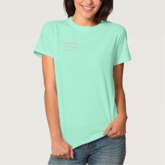 T-shirt Brodé La terre et c'est chemise brodée par océans