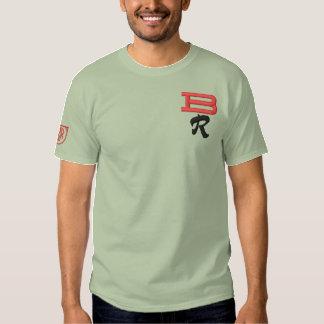 T-shirt Brodé Les initiales de BR ont brodé la chemise