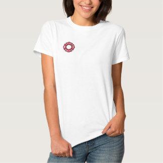 T-shirt Brodé Les sapeurs-pompiers de femmes ont brodé la