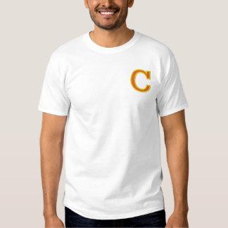 T-shirt Brodé Lettre C