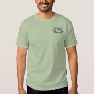 T-shirt Brodé Liberté irakienne OIF militaire d'opération