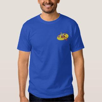 T-shirt Brodé Logo de jockey de disque