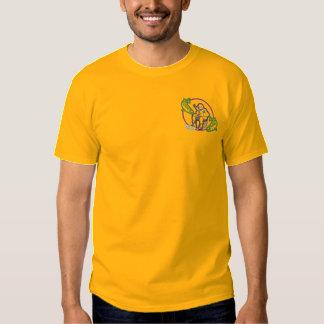 T-shirt Brodé Logo de pêche de glace