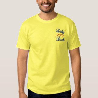 T-shirt Brodé Madame Luck Gambling Embroidered Shirt