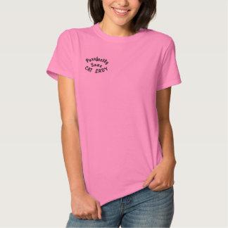 T-shirt Brodé Madame raisonnable de chat de Purrfectly